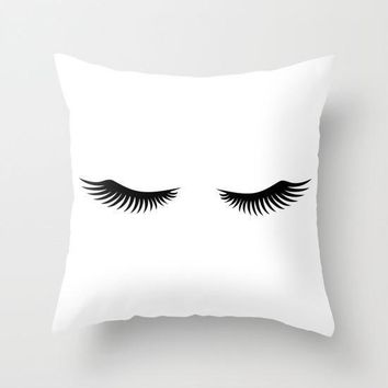 Shut Eye Throw Pillow With Insert
