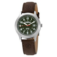 """Timex Men's T40051 """"Expedition"""" Metal Field Watch with Brown Leather Band"""