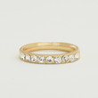 Pave Worn Gold Ring - Clear