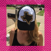 Cheetah and Gold Texas Hat