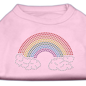 Rhinestone Rainbow Shirts Light Pink L (14)