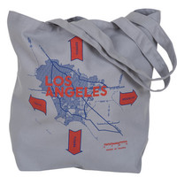 Los Angeles Blueprint Totes