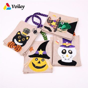 Halloween Party Trick or Treat Pumpkin Witches Cute Candy Boxs Baby Shower Birthday Decor Gift Organizer Kids Favor Handbag,7