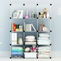 White Cube Storage Can Be Use in Closet, Home, Garage or Play Area for Children