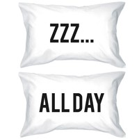 Funny Pillowcases Standard Size 20 x 31 - ZZZ... All Day