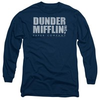 The Office - Dunder Mifflin Distressed Long Sleeve Adult 18/1 Officially Licensed Shirt