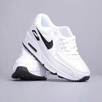 NIKE Air Max 90 Trending Women Men Air Cushion Sport Running Shoes Sneakers White