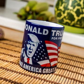 Donald Trump mug Make America Great Again 2016 cup republican president coffee