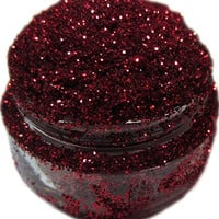 Lumikki Cosmetics Glitter Eye/Face/Lips/Nails Makeup - Ruby Red - RUBY SLIPPERS - Super Pigmented & Rich Color! - Cruelty Free - Professional Quality - 5G Volume/2.5G Weight Jar