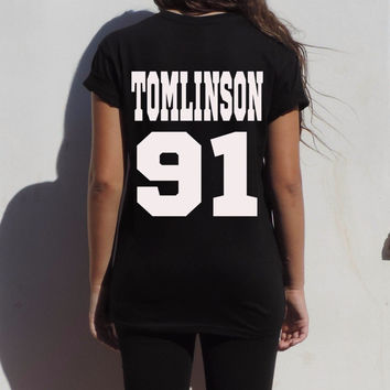 Tomlinson 91 Louis Tomlinson One Direction Women's Casual T-Shirt