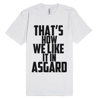In Asgard-Unisex White T-Shirt