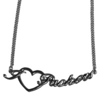 Green Bay Packers Heart Script Necklace