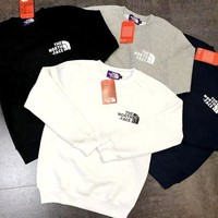 Free shipping-The North Face cotton and velvet sweater