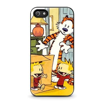 calvin and hobbes duplicator iphone 5 5s se case cover  number 1