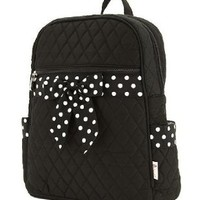 Medium Quilted Backpack Purse - Black & White (11x13):Amazon:Baby