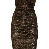 La Petite S***** | Ruched lace dress | NET-A-PORTER.COM