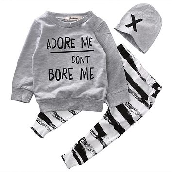 Adore me or Don't Bore ME Baby Boy Clothing Set