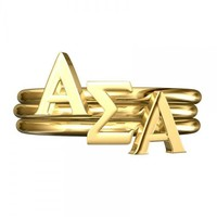 Alpha Sigma Alpha Stack Rings | A-List Greek Designs