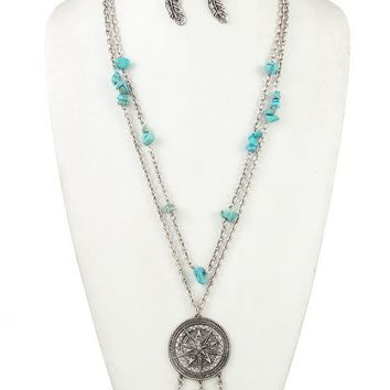 Dream Catcher Necklace and Earring Set ~ 2 colors
