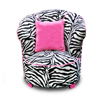 Komfy Kings, Inc 70121 Tulip Chair Minky Zebra