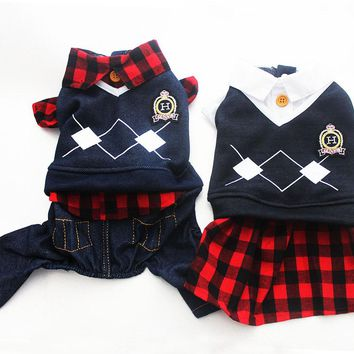 Puppy Plaid Polo Shirt