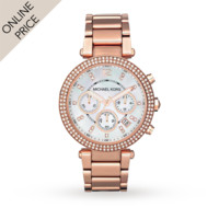 Michael Kors MK5491 Holiday Rose Gold Plated Ladies Watch | Designer Watches | Watches | Goldsmiths