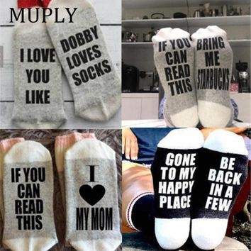 8 Style IF YOU CAN READ THIS Socks Women Funny White Low Cut Ankle Socks Hot Sale 2017 Bring Me A Glass Of Wine Casual Socks