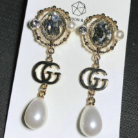 GUCCI fashion sells pearl long style pendant wheat ear tassel pearl earring ear pendant