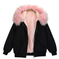 LIMITED Imitation Fur Bomber Jacket