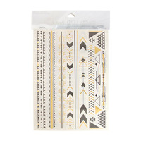 The Love and Madness Aztec Metallic Tattoos