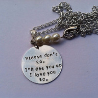 Hand stamped moving away gift Where the Wild Things Are necklace
