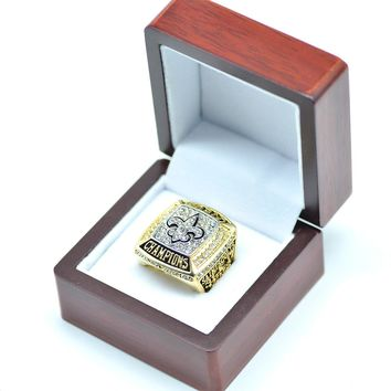 Size 8-13, the 44th 2009 New Orleans saints championship ring
