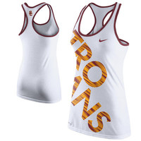 Nike USC Trojans Women's Warp Performance Tank Top - White