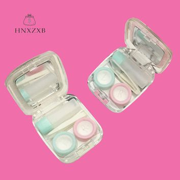 HNXZXB Cute Contact lens Case Perfume Bottles Contact Lenses Storage Box For Women Eyes Care Kit Holder Container With Mirror