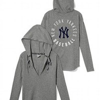 New York Yankees Oversized Pullover Hoodie - PINK - Victoria's Secret