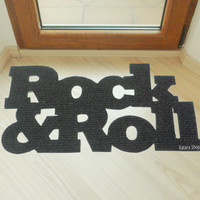 Cool design doormat: Rock & Roll