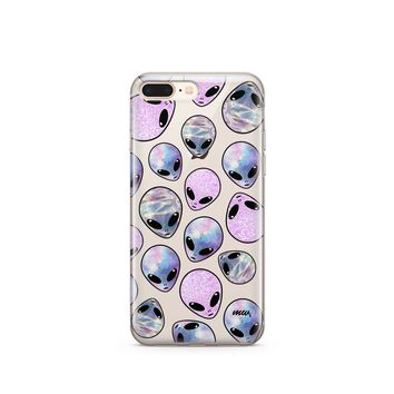 CLEARANCE iPhone 7 Clear Case Cover - Galaxy People