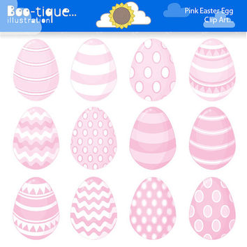 Easter Eggs Clipart. Easter Clip Art for Instant Download. Pale Pink Easter Egg Clip Art. Baby Pink Easter Egg Clipart. Spring Clipart