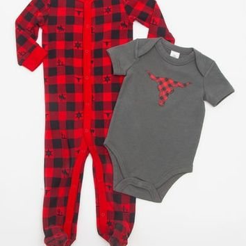 Cody James Infant Boys' Longhorn Onesuit Set