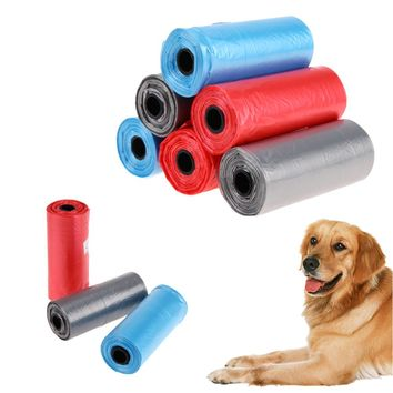 90Pcs/6 Roll Pet Dog Poop Bags Garbage Bags for Dog Cats Outdoor Travel Waste Pooper Scooper Pet Cleaning Products