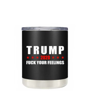 Trump 2020 on Black 10 oz Lowball Tumbler