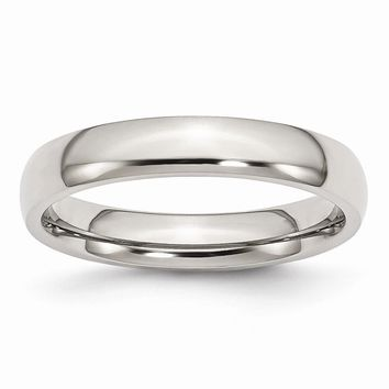 Men's Stainless Steel Polished Wedding Band Ring