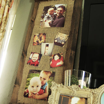 Unique Rustic Wooden Decorative Wall Picture Frame / Candle Holder