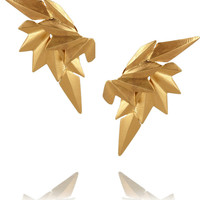Maria Black | Gold-plated wing earrings | NET-A-PORTER.COM