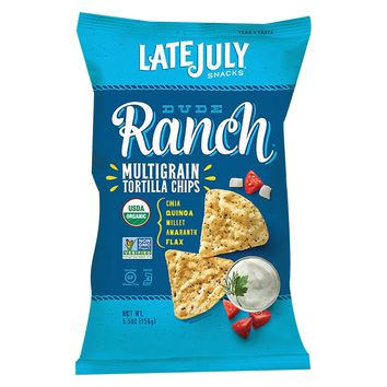 Late July Snacks Organic Multigrain Snack Chips - Dude Ranch - Case Of 12 - 5.5 Oz.