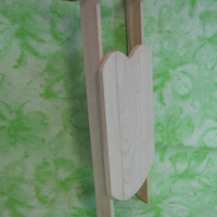Sled 11 inches Long and 4 inches Wide Unfinished Wood