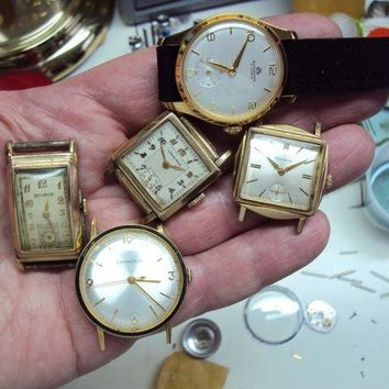 ONETOW Vintage Longines Bulova Benrus Bucherer Carravelle Watch Lot