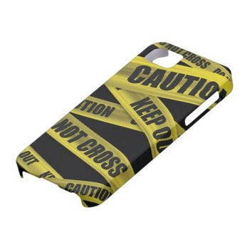 Caution Tape iPhone 5 Case from Zazzle.com