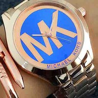 MK Ladies Men Trending Fashion Quartz Watches Wrist Watch F-Fushida-8899 Blue