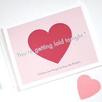 Funny Valentine Card - Naughty Valentine's Day Card - You're Getting Laid Tonight